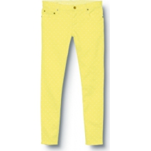 Quiksilver Womens Tama Crop Yellow Swan Jeans - Closeout by Quiksilver