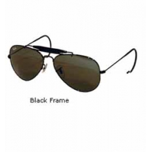 Outdoorsman 3030 Aviator Sunglasses with Wire Wrap Ears - Black in Birmingham, MI