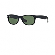 New Wayfarer - Matte Black Sunglasses by Ray Ban