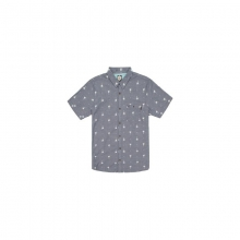 Mens Duran S/S Shirt - New Navy Large by Rip Curl