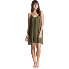 Tidal Wave Tank Dress - Closeout Military Olive XL by Roxy