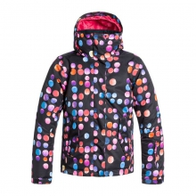 Jetty Insulated Snowboard Jacket Girls', Plaid Lines, M by Roxy