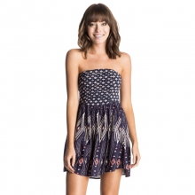 Double Dose Strapless Dress - Closeout Geo Carpet Combo Eclipse by Roxy