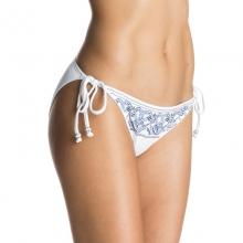 Sandy Tile Tie Side 70'S Bikini Bottoms - Closeout Bright White by Roxy