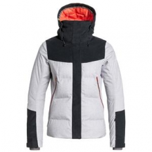 Flicker Insulated Snowboard Jacket Women's, Bright White, L by Roxy