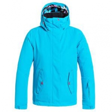 Solid Jetty Insulated Snowboard Jacket Girls', Hawaiian Ocean, L by Roxy