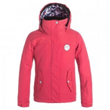 Jetty Insulated Snowboard Jacket Girls', Paradise Pink, L by Roxy