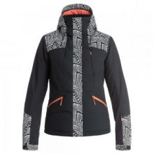 Flicker Insulated Snowboard Jacket Women's, Mauritius Daze/Egret, L by Roxy