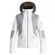 Atmosphere Insulated Snowboard Jacket Women's, Bright White, L by Roxy
