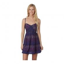 Womens Shore Thing Dress - Sale Indigo Dot Stripe Large by Roxy