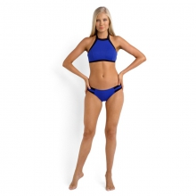 Block Party Spliced Hipster Bikini Pant - Closeout Blue Ray by Seafolly