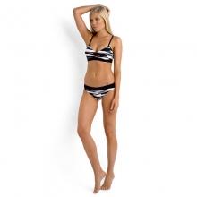 Fastlane Banded Hipster Bikini Pant - Closeout Black/White 12 by Seafolly