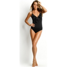 Seafolly Womens Shimmer Frill Front Maillot by Seafolly