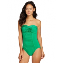 Seafolly Womens Goddess Pleated Bandeau Maillot by Seafolly
