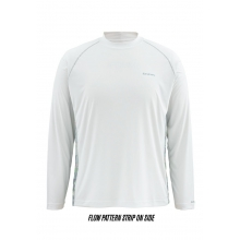 Men's Solarflex LS Crewneck Print by Simms in Omak Wa