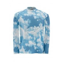 Men's Solarflex LS Crewneck Print by Simms in Hendersonville Tn