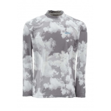 Men's Solarflex LS Crewneck Print by Simms in Evergreen CO
