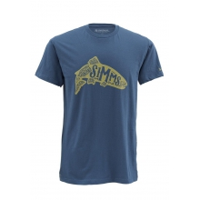 Men's Woodblock Trout SS T by Simms