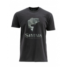 Hex Camo Bass Logo SS T by Simms