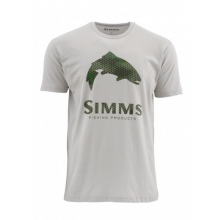 Hex Camo Trout Logo SS T by Simms