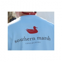 Mens Authentic Tee - New Light Blue Small by Southern Marsh