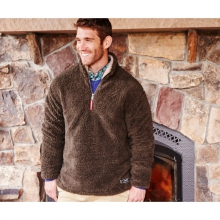Mens Appalachian Pile Pullover - New Stone Brown Small by Southern Marsh