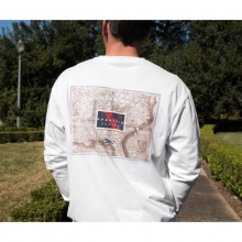 Mens Long Sleeve Expedition Series Flag - New White
