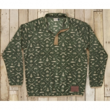 Mens Woodlands Fleece Pullover - Sale Dark Olive and Tan by Southern Marsh