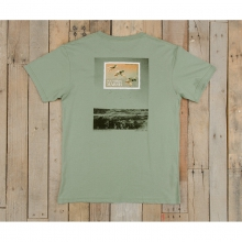 Mens Duck Stamp Tee - New Bay Green Small by Southern Marsh