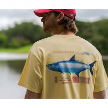 Mens Tarpon Tee - New Light Yellow Large by Southern Marsh