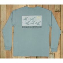Mens LS Flying Vee Tee - New Burnt Sage Small