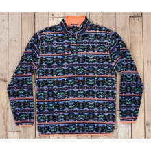 Youth Dorado Fleece Pullover - New Midnight Gray/Teal by Southern Marsh