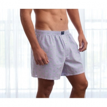 Mens Hanover Boxer - New Wharf Purple Medium by Southern Marsh