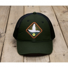 Flying Duck Trucker Hat - New Dark Green One Size