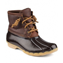 Top-Sider Saltwater Boot - Women's-Dark Brown-5 by Sperry