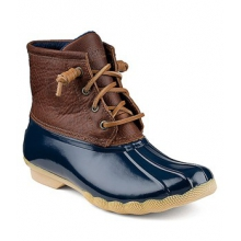 Top-Sider Saltwater Boots - Women's-Tan/Navy-5.5 by Sperry