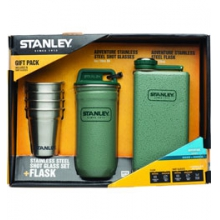Stainless Steel Shots + Flask Gift Set - Hammertone in State College, PA