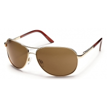 Aviator +1.50 - Brown Polarized Polycarbonate by Suncloud in Sandy Ut