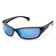 Hook - Blue Mirror Polarized Polycarbonate by Suncloud in Sandy Ut