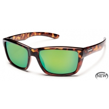 Mayor  - Green Mirror Polarized Polycarbonate by Suncloud in Sandy Ut
