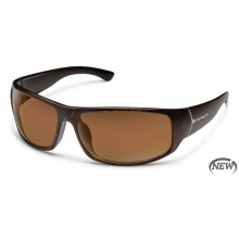 Turbine - Brown Polarized Polycarbonate by Suncloud in Golden Co