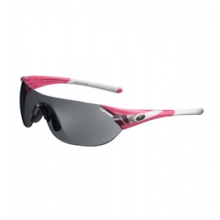 Podium S Interchangeable Lens Sunglasses - Gloss Black/Smoke/AC Red/Clear by Tifosi