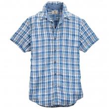 Timberland Men's SS Parker River Plaid Linen Shirt by Timberland