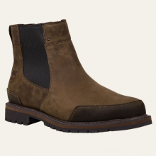 Mens Chestnut Ridge Waterproof Chelsea - Closeout Dark Brown Oiled by Timberland