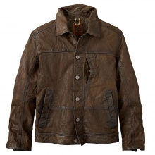 Timberland Men's Tenon Leather Bomber Jacket