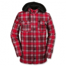 Men's Field Bonded Flannel Button Up Fleece Hooded Shirt in State College, PA