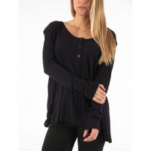 Women's Lived in Rib Long Sleeve Henley Shirt in State College, PA