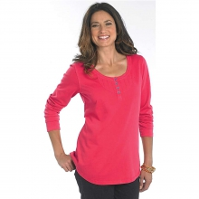 Women's First Forks Dobby Henley Shirt by Woolrich