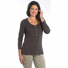 Women's Callowhill Sueded Slub Long Sleeve Henley by Woolrich