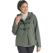 Women's Passage Softshell Hooded Duffle Coat by Woolrich